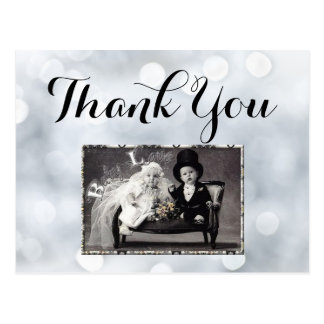 Lights White Snow Sparkles Glitter Thank You Card