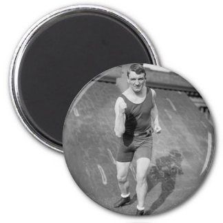 Lightweight Boxer Fred Welsh, early 1900s 6 Cm Round Magnet