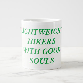 LIGHTWEIGHT HIKERS WITH GOOD SOULS LARGE COFFEE MUG