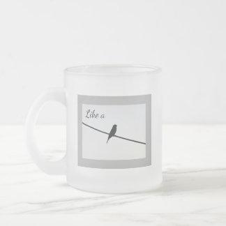 Like a Bird on a Wire Frosted Glass Coffee Mug
