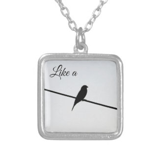 Like a Bird on A Wire - Leonard Cohen Silver Plated Necklace