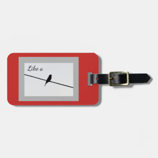 Like a Bird on a Wire Luggage Tag