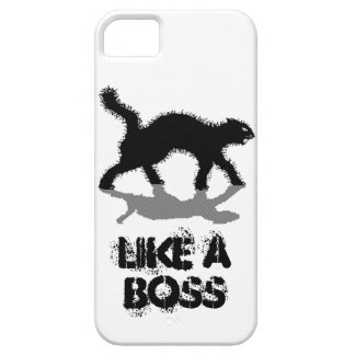 like a boss black cat funny case iPhone 5 case