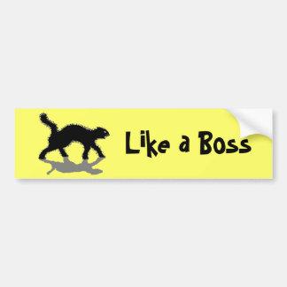like a boss black cat  vol11 bumper sticker