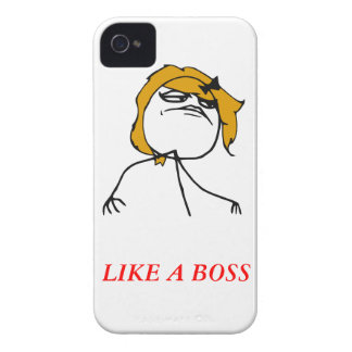 Like a boss girl iPhone 4 Meme Case