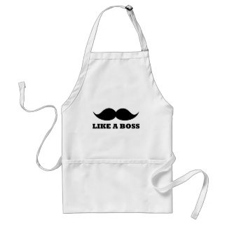 LIKE A BOSS, moustache design Standard Apron