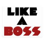 Like a Boss Post Card