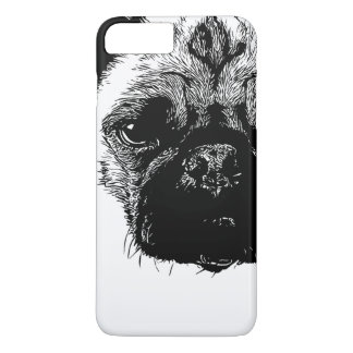 Like a Boss Pug Face Cool Hand Drawn iPhone 7 Plus Case