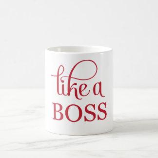 Like a Boss Red Coffee Mug