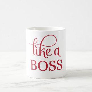 Like a Boss Red Basic White Mug