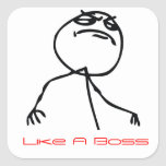 Like a Boss Square Sticker