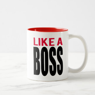 Like A Boss Two-Tone Mug