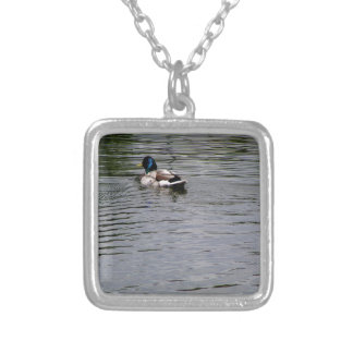 Like a Duck , Be The Duck Silver Plated Necklace