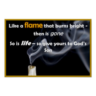 "Like a Flame - 12"" x 18"" Poster"