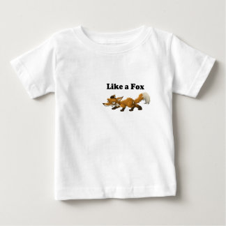 Like a Fox Funny Cartoon Joke Pun Baby T-Shirt