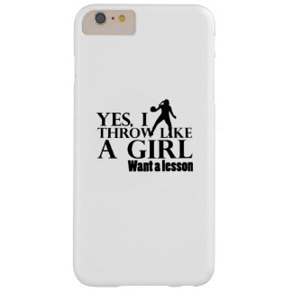 Like A Girl Funny Baseball Softball Gift Barely There iPhone 6 Plus Case