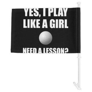Like A Girl Golf Car Flag
