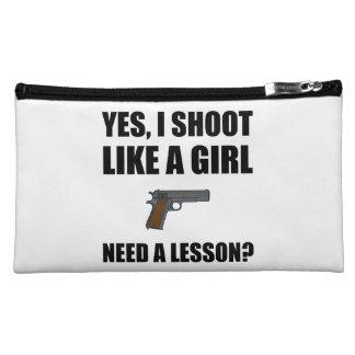 Like A Girl Gun Shoot Cosmetics Bags