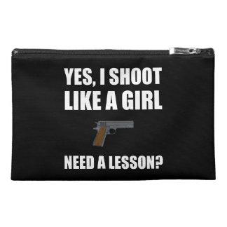 Like A Girl Gun Shoot Travel Accessory Bags