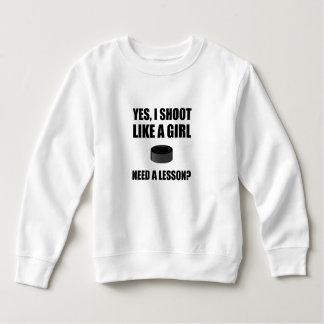 Like A Girl Hockey Sweatshirt