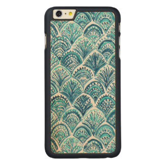 LIKE A MERMAID Nautical Fish Scales Pattern Carved® Maple iPhone 6 Plus Case
