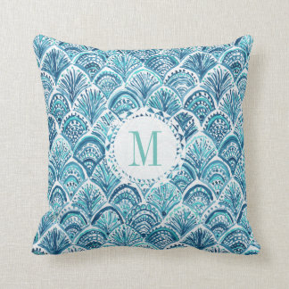 LIKE A MERMAID Watercolor Fish Scales | Custom Cushion