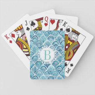 LIKE A MERMAID Watercolor Fish Scales | Custom Poker Deck