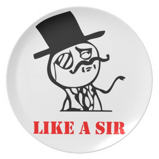 Like a sir - meme party plate