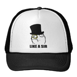 Like a Sir Monocle Rage Face Meme Hat