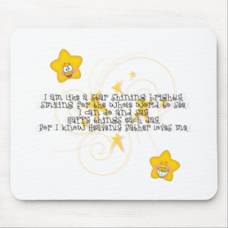 like a star shining brightly mousepads