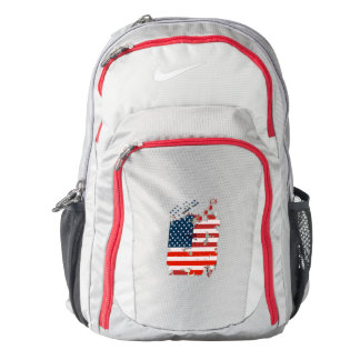 Like an American. USA grunge flag Backpack