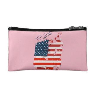 Like an American. USA grunge flag Cosmetic Bag