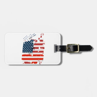Like an American. USA grunge flag Luggage Tag