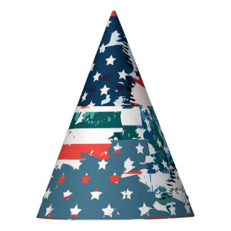 Like an American. USA grunge flag Party Hat