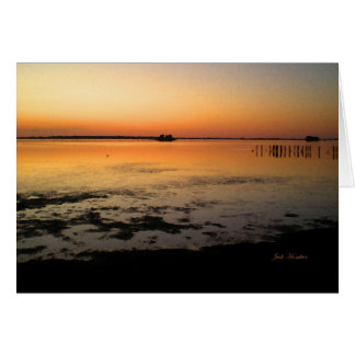 """""""Like An Unlit Candle"""" Sunset Along Edgewater Card"""