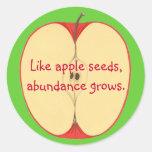 Like apple seeds, abundance grows, Stickers
