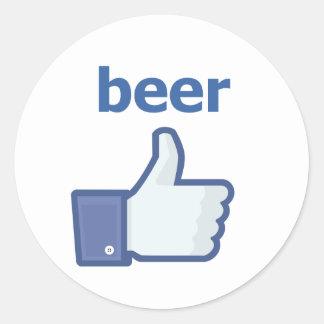 LIKE beer Classic Round Sticker