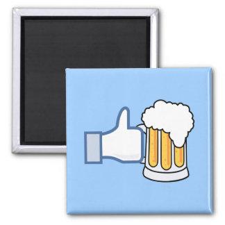 Like Beer (Color) Square Magnet