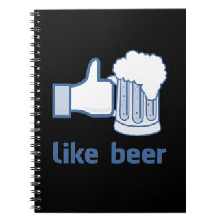 Like Beer Spiral Note Books