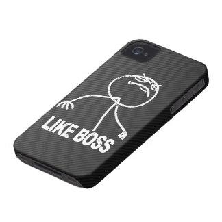 Like Boss meme on Faux Carbon fiber iPhone 4 Case