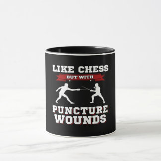 LIKE CHESS BUT WITH PUNCTURE WOUNDS - FENCING MUG