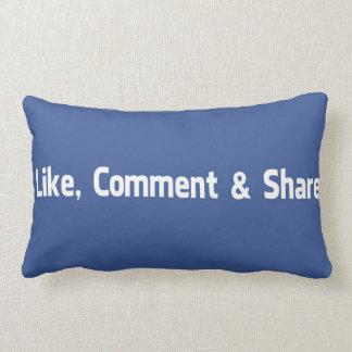 Like,Comment,Share Lumbar Cushion