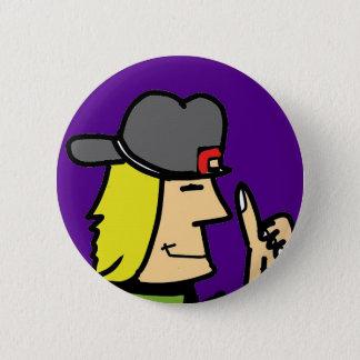 like dude cartoon guy 6 cm round badge