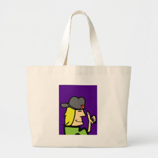 like dude ccartoon guy large tote bag