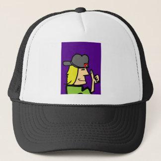 like dude ccartoon guy trucker hat