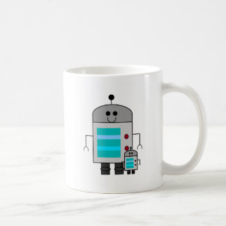 Like father like son robot coffee mug