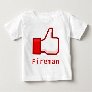 Like Fireman Baby T-Shirt