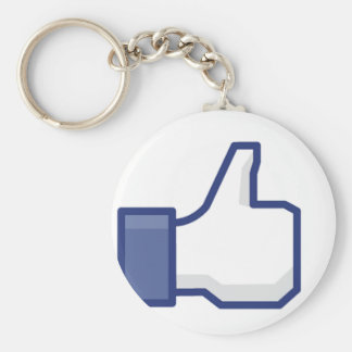 Like Hand Basic Round Button Key Ring