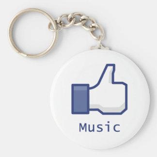 Like Music Basic Round Button Key Ring
