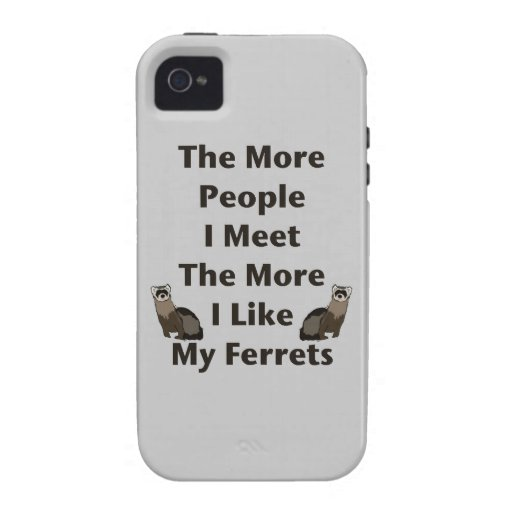 Like My Ferrets iPhone 4 Covers